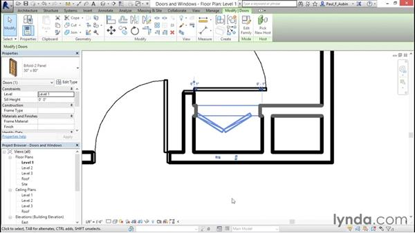 Adding doors and windows: Revit Architecture 2016 Essential Training (Imperial)