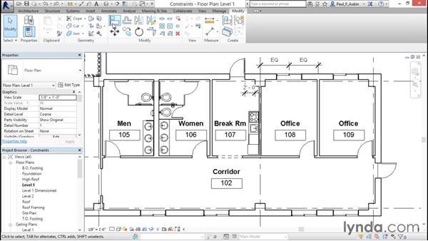 Using constraints: Revit Architecture 2016 Essential Training (Imperial)