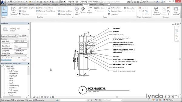 Import tips: Revit Architecture 2016 Essential Training (Imperial)