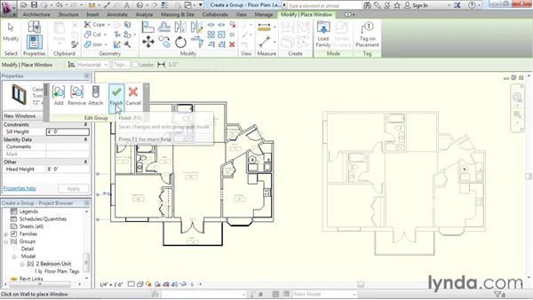 Creating groups: Revit Architecture 2016 Essential Training (Imperial)