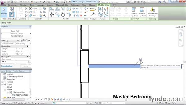 Mirroring groups to create a layout: Revit Architecture 2016 Essential Training (Imperial)