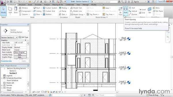 Adding openings: Revit Architecture 2016 Essential Training (Imperial)