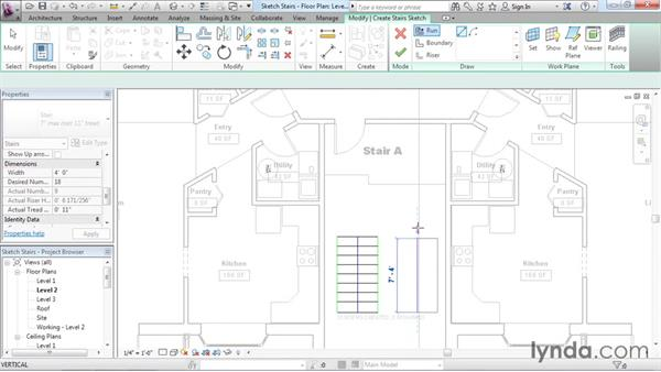 Working with stairs: Revit Architecture 2016 Essential Training (Imperial)