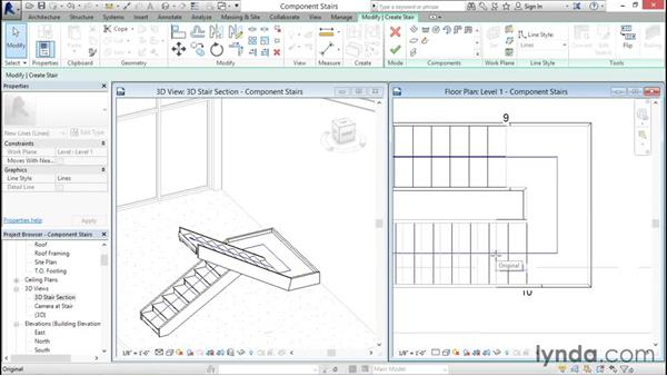 Working with component-based stairs: Revit Architecture 2016 Essential Training (Imperial)
