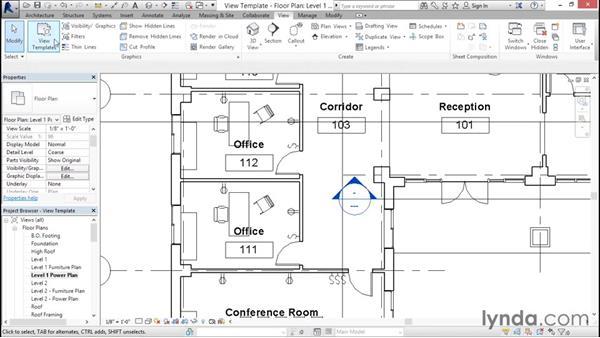 Using view templates: Revit Architecture 2016 Essential Training (Imperial)