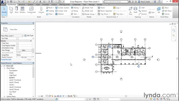 Understanding view extents and crop regions: Revit Architecture 2016 Essential Training (Imperial)