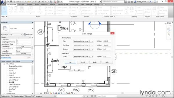 Understanding view range: Revit Architecture 2016 Essential Training (Imperial)