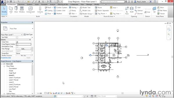 Displaying objects above and below in plan views: Revit Architecture 2016 Essential Training (Imperial)