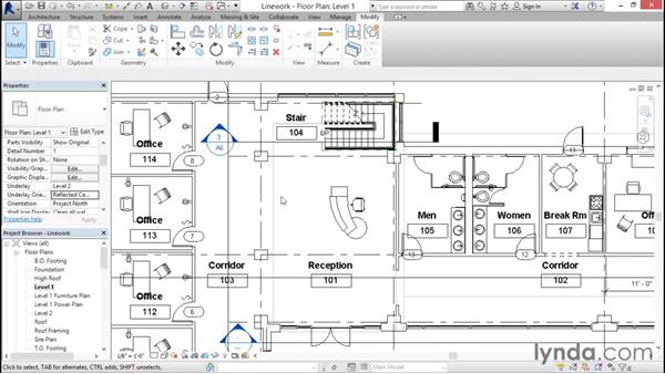 Using the Linework tool: Revit Architecture 2016 Essential Training (Imperial)