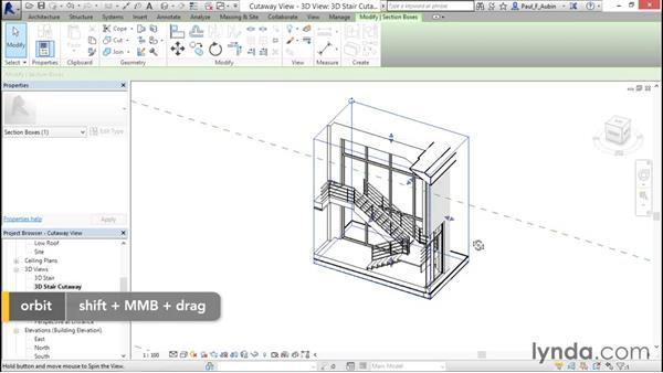 Using cutaway views: Revit Architecture 2016 Essential Training (Imperial)