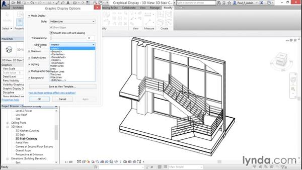 Using graphical display options: Revit Architecture 2016 Essential Training (Imperial)