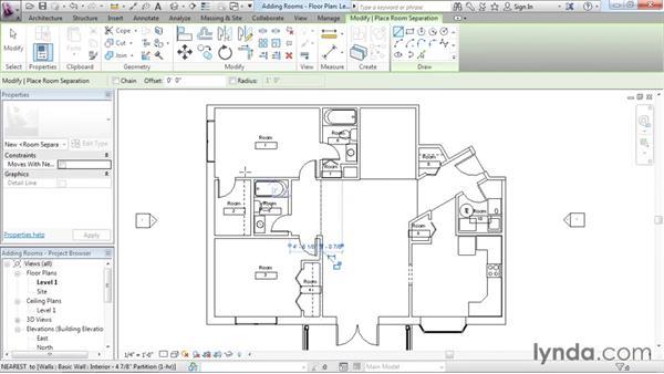 Adding rooms: Revit Architecture 2016 Essential Training (Imperial)