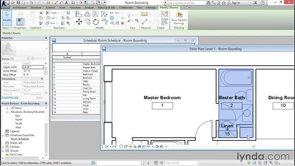 Understanding room bounding elements: Revit Architecture 2016 Essential Training (Imperial)