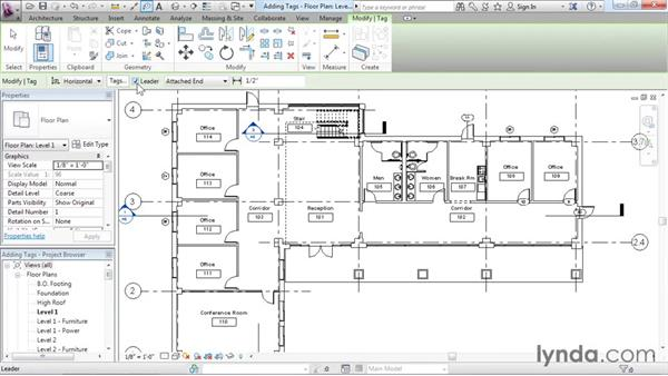 Understanding tags: Revit Architecture 2016 Essential Training (Imperial)
