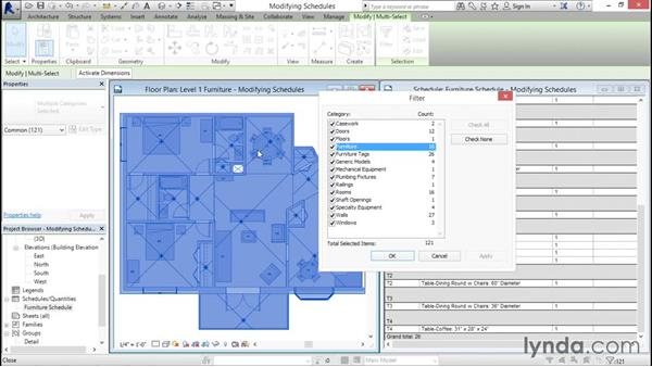 Modifying schedule views: Revit Architecture 2016 Essential Training (Imperial)