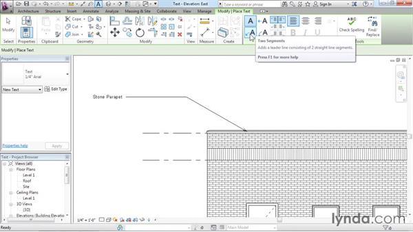 Adding text: Revit Architecture 2016 Essential Training (Imperial)