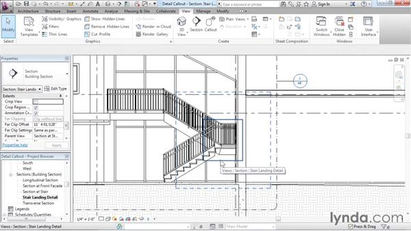Creating a detail callout: Revit Architecture 2016 Essential Training (Imperial)