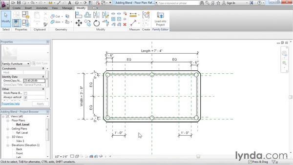 Adding blends: Revit Architecture 2016 Essential Training (Imperial)