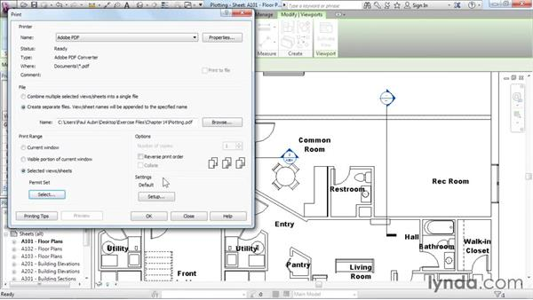 Plotting and creating a PDF: Revit Architecture 2016 Essential Training (Imperial)
