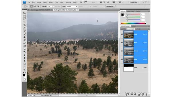 Combining one image with another: Photoshop CS4 One-on-One: Fundamentals