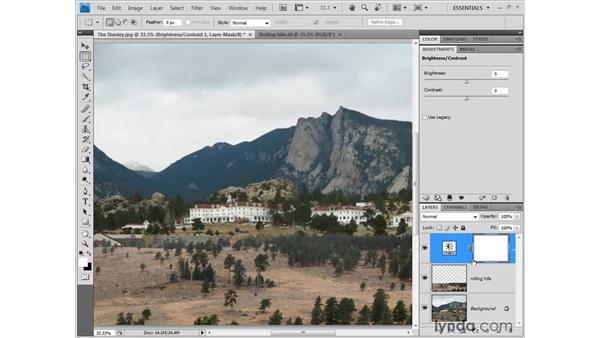 Adjusting brightness and contrast: Photoshop CS4 One-on-One: Fundamentals