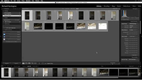 Manually sorting HDR images after import: Creating High-Dynamic Range (HDR) Photos with Lightroom
