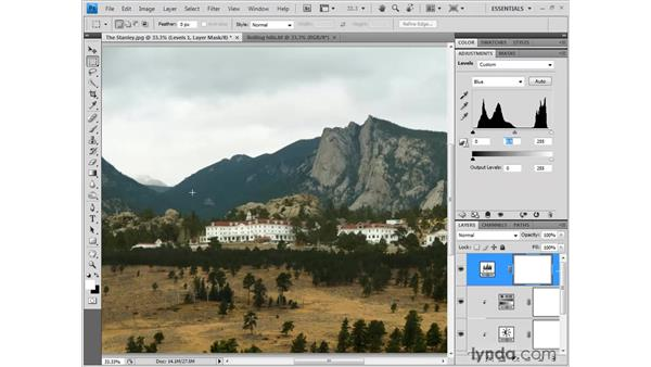 Adding an entire composition: Photoshop CS4 One-on-One: Fundamentals