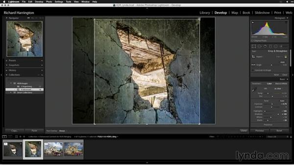 Modifying the crop after the merge: Creating High-Dynamic Range (HDR) Photos with Lightroom