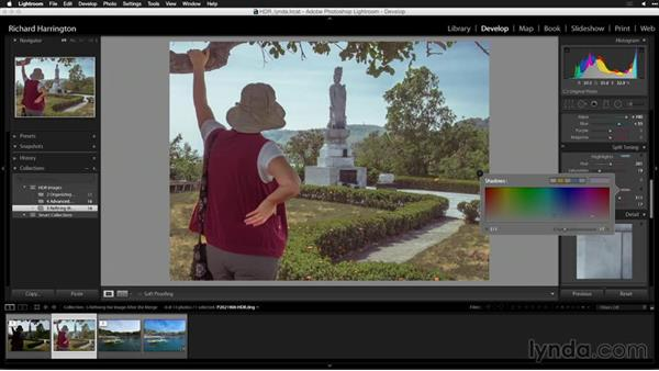 Using split toning to refine color balance: Creating High-Dynamic Range (HDR) Photos with Lightroom