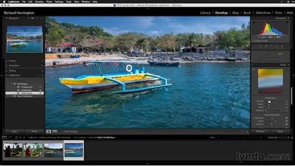 Sharpening the HDR file: Creating High-Dynamic Range (HDR) Photos with Lightroom