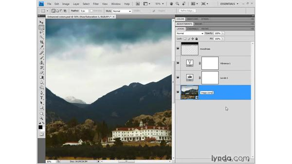 Sharpening the detail: Photoshop CS4 One-on-One: Fundamentals