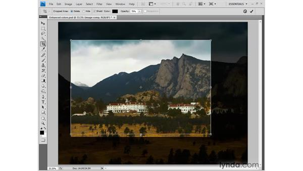 Cropping the artwork: Photoshop CS4 One-on-One: Fundamentals