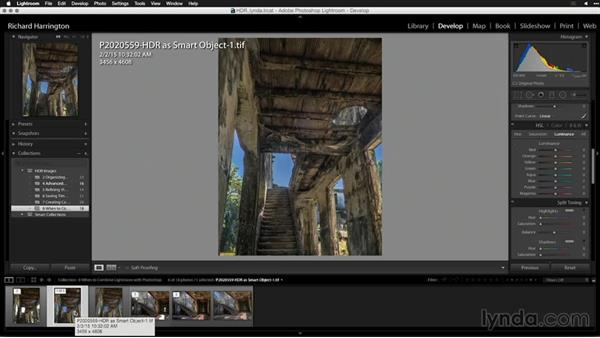 Sending the image back to your Lightroom catalog: Creating High-Dynamic Range (HDR) Photos with Lightroom