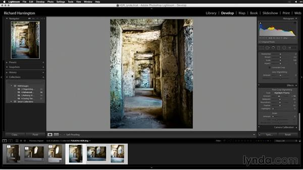 Modifying the image and reusing the settings: Creating High-Dynamic Range (HDR) Photos with Lightroom