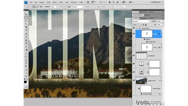Working with text layers: Photoshop CS4 One-on-One: Fundamentals