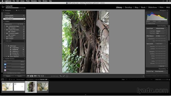 Merging for black and white: Creating High-Dynamic Range (HDR) Photos with Lightroom
