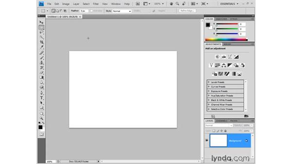 Opening an image: Photoshop CS4 One-on-One: Fundamentals