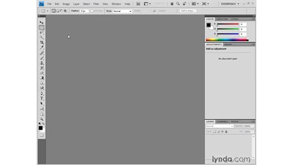 Opening multiple images: Photoshop CS4 One-on-One: Fundamentals