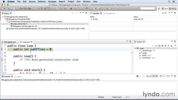 Debugging a Java app: Eclipse Essential Training