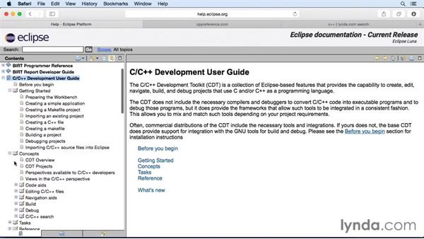 Going further with C/C++: Eclipse Essential Training