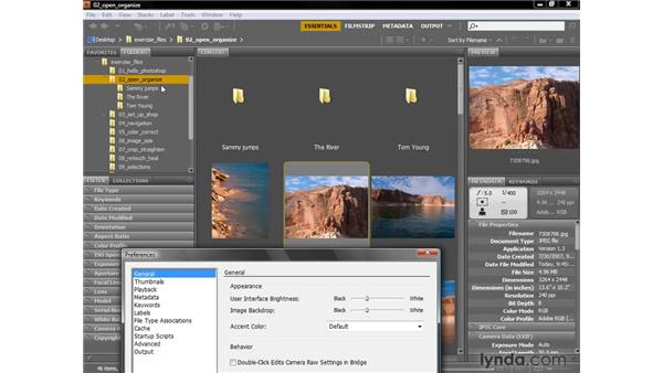 Adjusting the interface and thumbnails: Photoshop CS4 One-on-One: Fundamentals