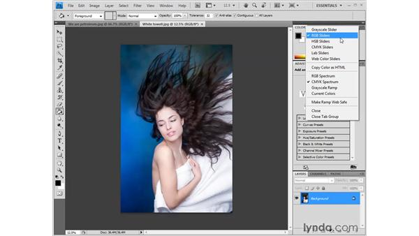 Changing the color of the pasteboard: Photoshop CS4 One-on-One: Fundamentals