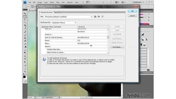 Installing the dekeKeys keyboard shortcuts: Photoshop CS4 One-on-One: Fundamentals