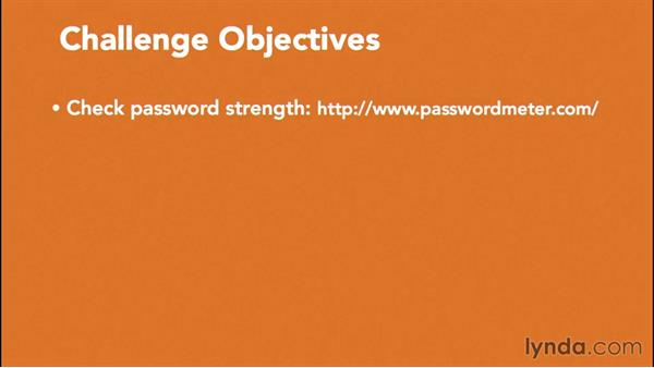 Challenge: Password strength tests: Essentials of Cryptography and Network Security