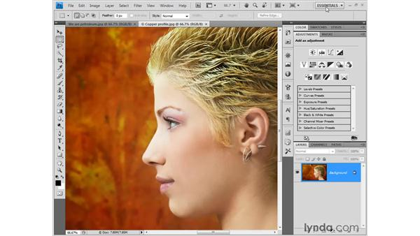 Saving your workspace: Photoshop CS4 One-on-One: Fundamentals