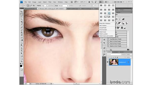 Scrolling (aka panning) images: Photoshop CS4 One-on-One: Fundamentals