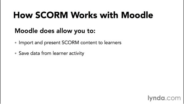 Preparing to use SCORM content in Moodle: Moodle Advanced Techniques
