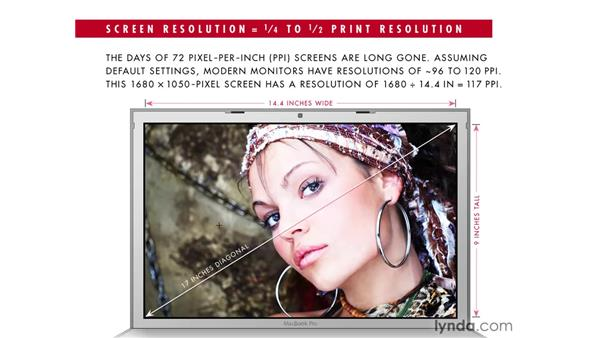 Viewing the image at print size: Photoshop CS4 One-on-One: Fundamentals