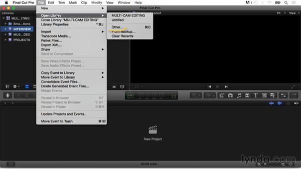 Using the exercise files: Final Cut Pro X Guru: Multicamera Video Editing
