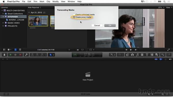 The benefits of working with proxy or optimized media: Final Cut Pro X Guru: Multicamera Video Editing